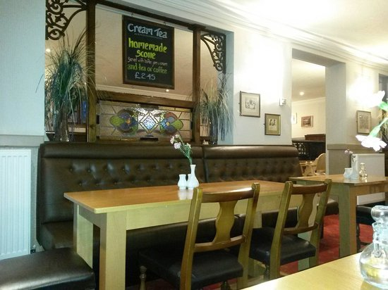The Lochy: A table in the restaurant section