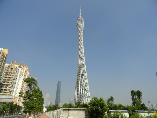 Canton Tower : The tower from the bottom - up
