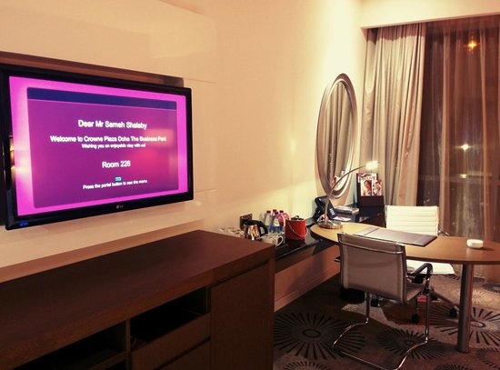 Crowne Plaza Doha - The Business Park: Customized Welcoming Screen