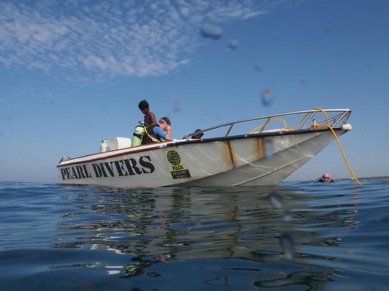 Pearl Divers: One of the dive boats