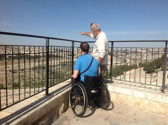 Israel4All Day Tours : Day tour Jerusalem - Accessible - Over looking from Mt. of Olives