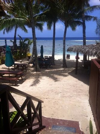 Castaway Resort: view from our Beach-facing Chalet