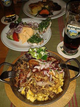 Ужин в Wirtshaus Ayingers
