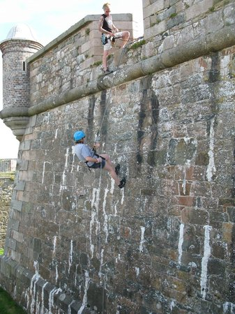 Elizabeth Castle: abseiling with Jersey Adventures