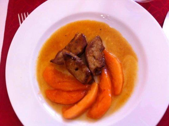 Auberge de la Vieille Ferme: foie gras au melon