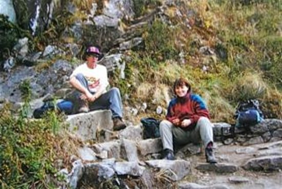 The Ruins of Intipata: TAKING A REST BEFORE CLIMMING THE STEPS