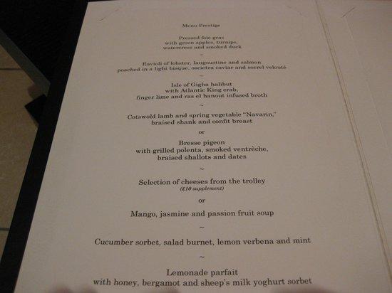 gordon ramsay steak menu pdf