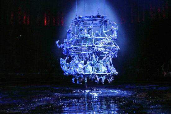 The House of Dancing Water: human chandelier...so cool!