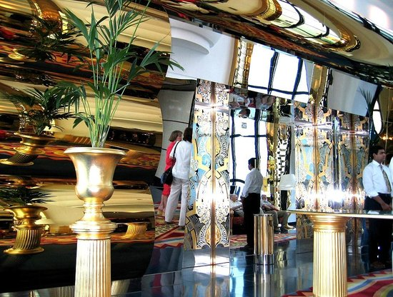 Burj Al Arab Jumeirah: Лифтовой холл