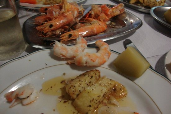 Jaquet: my gambas & some of the fried potatoes