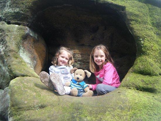 Plumpton Rocks: in the rocks