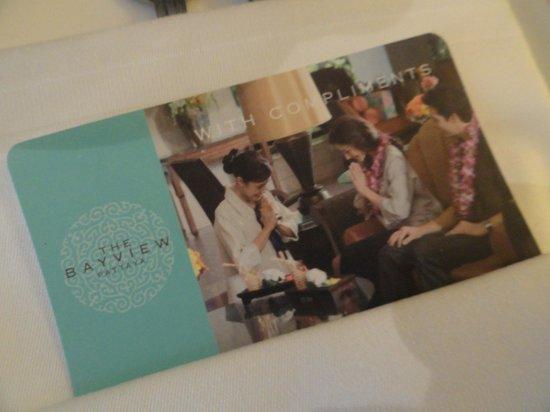 The Bayview Hotel: Room keys