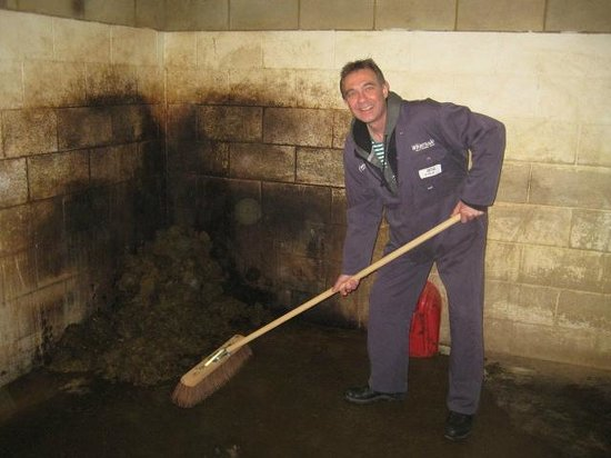Zookeeper for a day at Whipsnade zoo: Mucking out !