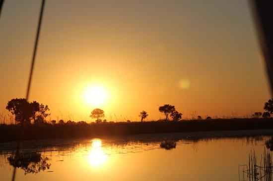 Beautiful Okavango Delta sunset