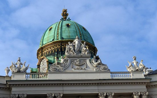 Dome on Hapsburg Palace at Michaelerplatz