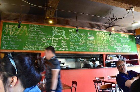 Menu/Pricing board @ Pizza Volante in CJH