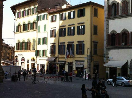 Corte dei Medici : ingang hotel in dit gebouw maar moeilijk zichtbaar