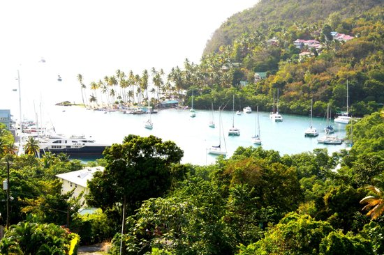Marigot Bay : view from top hill