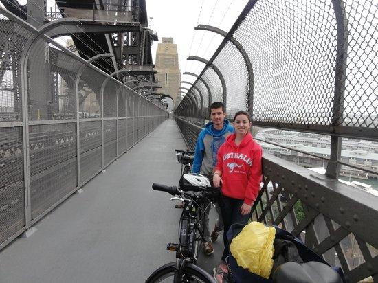 Annawombat Bike Tours: On the Sydney Harbour Bridge