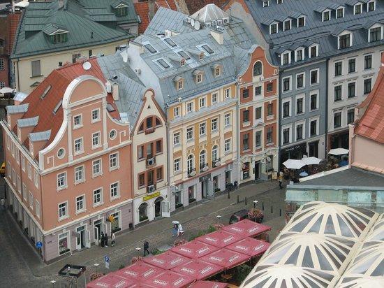 View of Riga from St Peter's Church Tower: вот такой вид с площадки на старый город