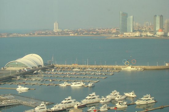 InterContinental Hotel Qingdao : View of harbour from bedroom