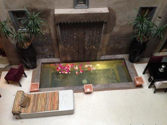Riad Dar One: recption area from the second floor