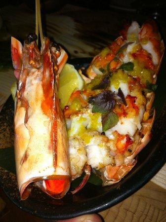 Grilled prawn from the Zuma Robata platter
