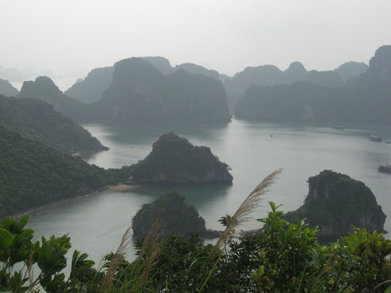 Halong Bay: The view from Titov Island.