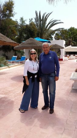 Residence Dar Sidi : me with the owner and host, Mr Mansour Gérant