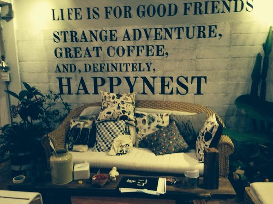 Happynest Hostel: Coffee couch