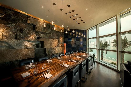 Private Dining Room With Water Front Views Picture Of Zuma Abu