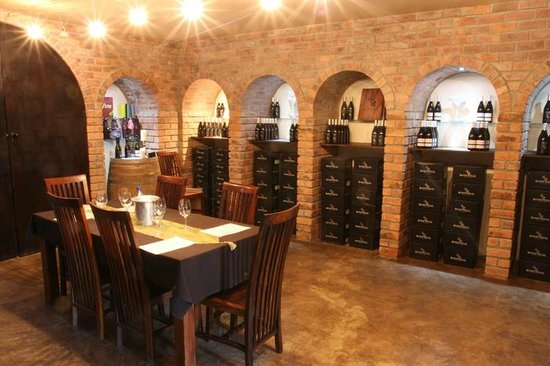 Rosendal Winery & Wellness Retreat: You can tasts or dine in Rosendal's cellar