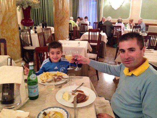 Hotel Ercolini & Savi: Jantar com meu Filho em Montecatini!