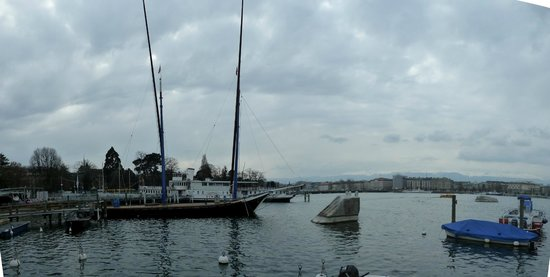 Genfer See: Zicht op Genève