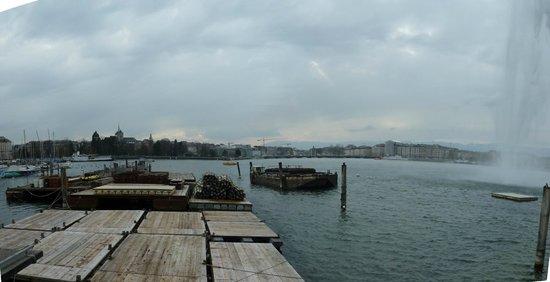 Genfer See: Zicht op Genève, het meer & kade