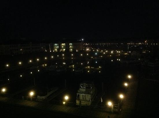 Holiday Inn Express N. Myrtle Beach-Little River: evening view of harbor from bedroom window