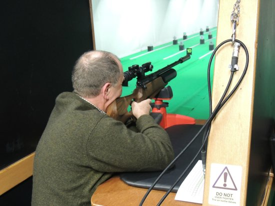 South Yorkshire Shooting Club: Trevor doing some target practice and scope adjustments