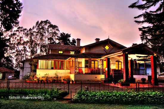 Ratan Tata Officers Holiday Home (RTOHH): Sun set behind the RTOHH.