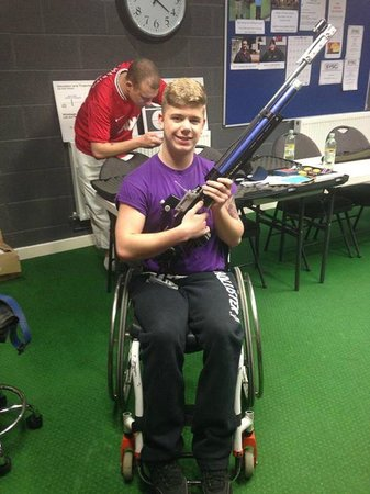 Perry during his practice before he went to the IPC World Cup.