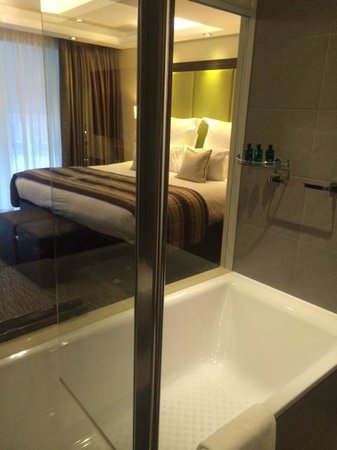 The Montcalm London Marble Arch: view from bathroom