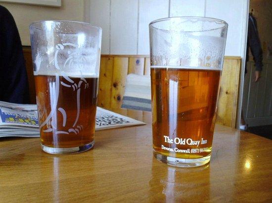 The Old Quay Inn: Good ale