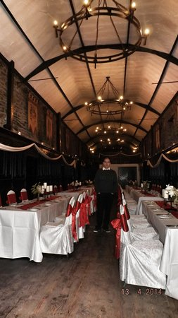 set for a wedding in kinnitty castle hotel