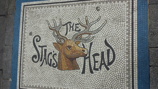Stag's Head: Entrance from Dame st.