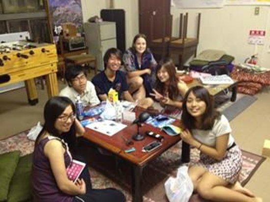 Yumebito House: 3階交流スペースでの飲み会/party in the comon room(3F)