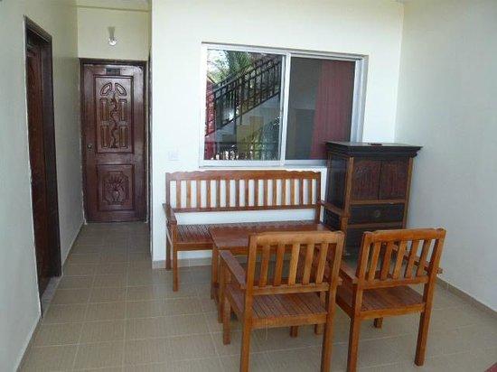 Residence la Paix: balcon en face de la chambre