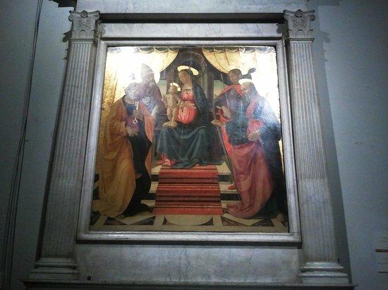 Lucca's Duomo (Cattedrale di San Martino) : La Madonna con il Bambino tra i SS. Pietro, Clemente, Paolo e Sebastiano del Ghirlandaio