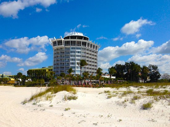 Grand Plaza Beachfront Resort Hotel & Conference Center: View of hotel from beach