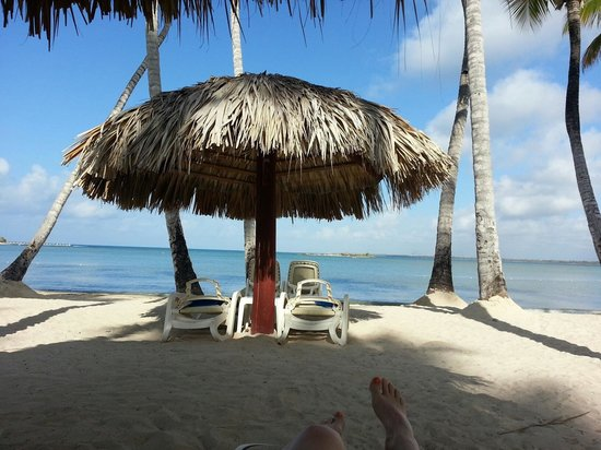 Luxury Bahia Principe Bouganville Don Pablo Collection : Ma vue sur la plage a partir de mon Palapas