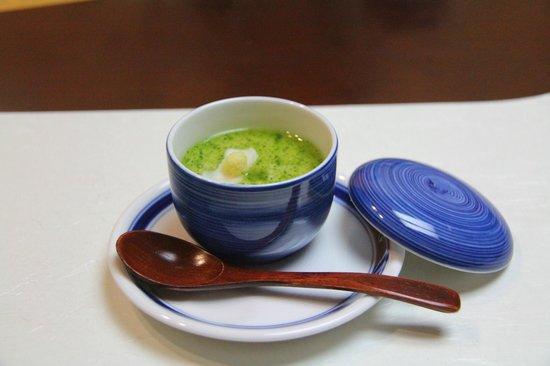 Hoshino Resorts KAI Matsumoto: 湯葉とユリ根のおぼろ蒸し