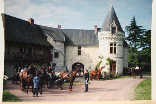Château de la Roche Martel : Arrivée